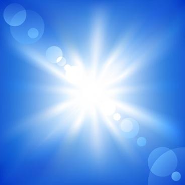sunshine background vivid bokeh design blue white ornament