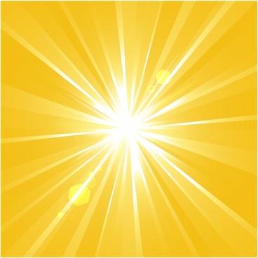 Sunshine vector background