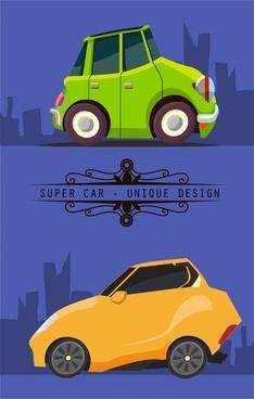 super car concept with unique design in flat