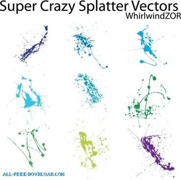 Super Crazy Splatter Vectors