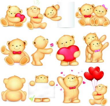 Super cute teddy bear design vector graphics