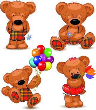 super cute teddy bear design vector graphics
