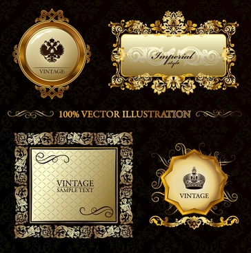 border templates luxury elegant golden classical decor
