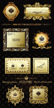 super gorgeous european classical pattern vector frame