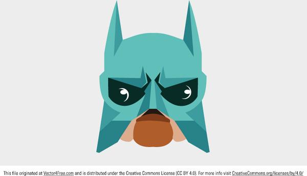 super hero mask vector