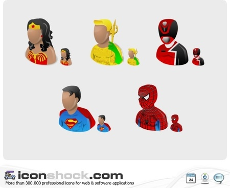 Super Heros Vista Icons icons pack