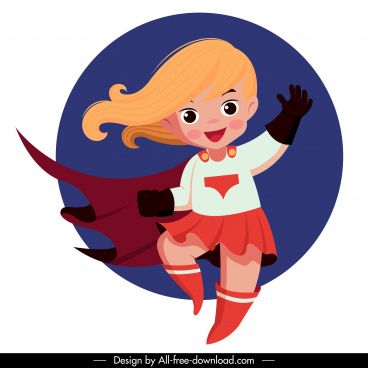 super kid icon cute girl sketch cartoon character