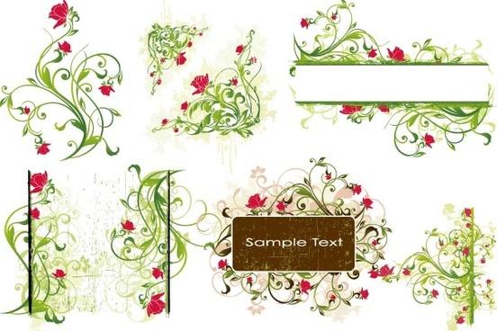 superior flower background vector graphic