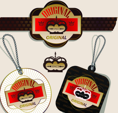 superior quality badges labels and tags elements vector