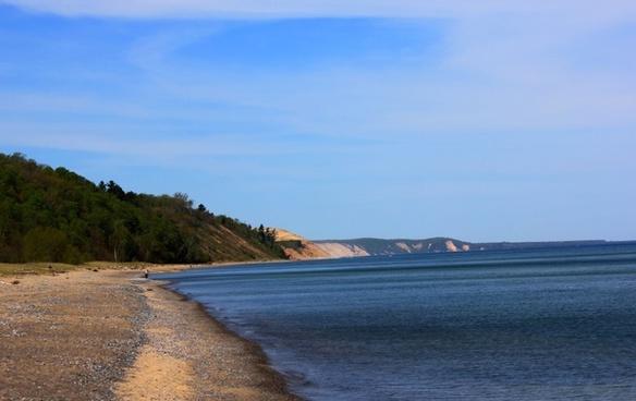 superior shoreline at grand marais in the upper peninsula michigan