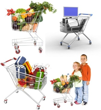 supermarket shopping cart hd picture