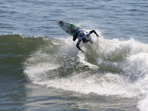 surfer goes airborne