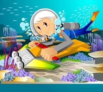 surfing sport vector 10