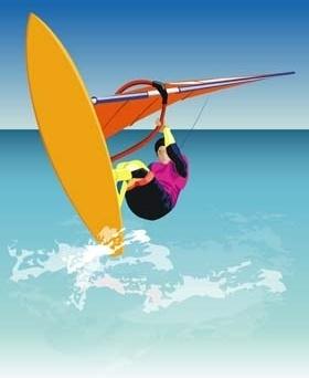 surfing sport vector 1
