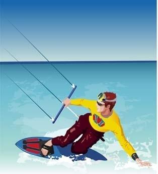 surfing sport vector 2