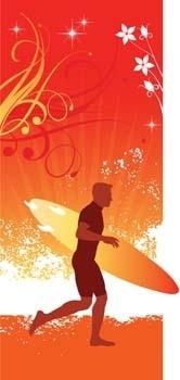 surfing sport vector 9