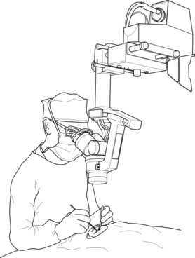 Surgeon During Operation clip art