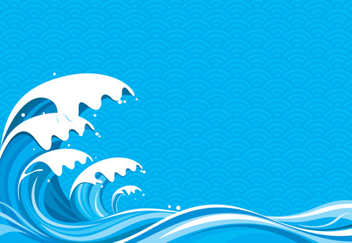 surging sea wave vector backgrounds