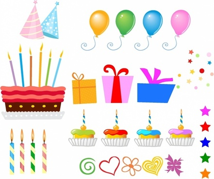 Surprise Birthday design elements