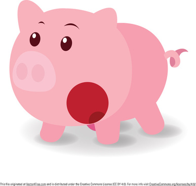 surprised pig vector
