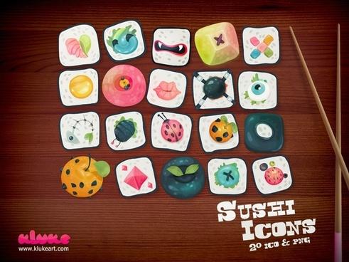 Sushi Icons icons pack