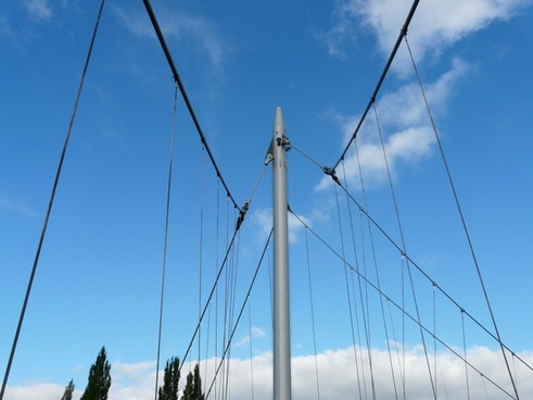 suspension bridge masts bridge