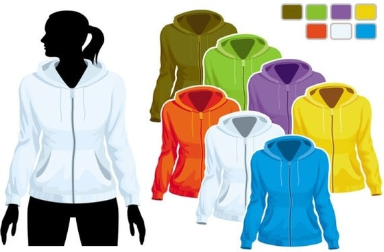 sweater template 01 vector