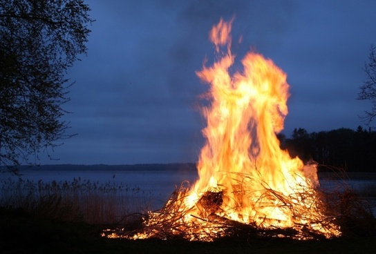sweden fire flames