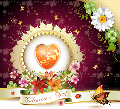 sweet valentine day card design vector
