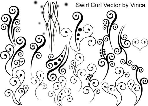Swirl Curly Vector