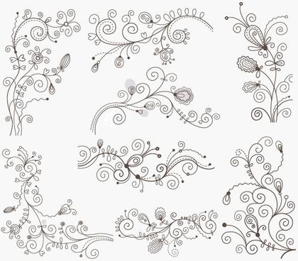 swirl floral decorative