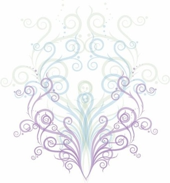 Swirl Floral Ornament Vector Graphic