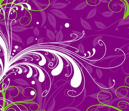 Swirl Flower In Purple Background