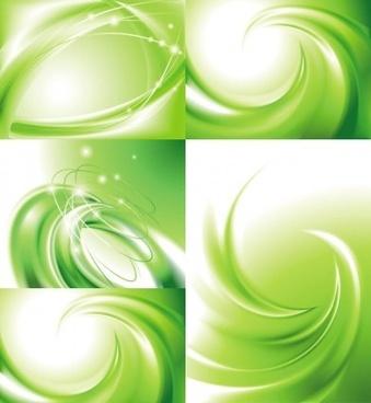 swirl green background vector
