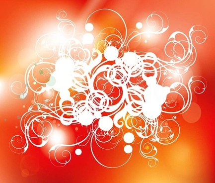 swirls composition vector
