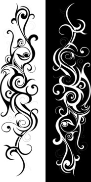 swirls decor design vector set