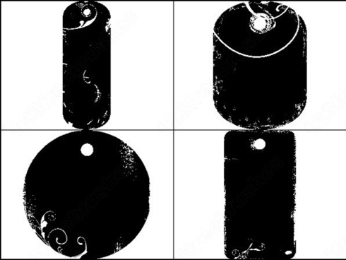 swirls tag shapes brush