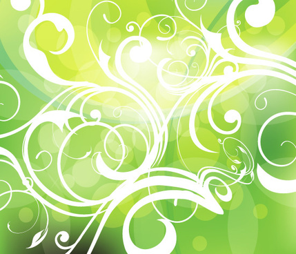 swirly abstract green background