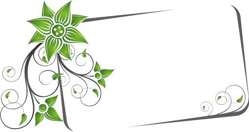 swirly banner vector graphic