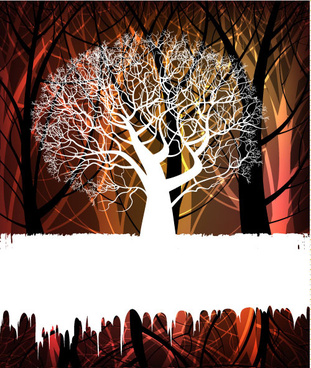 swirly branches vector graphics