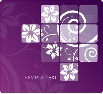 swirly flower design vector