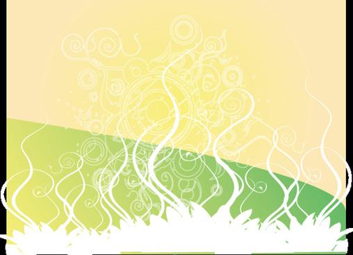 swirly golden green vector design