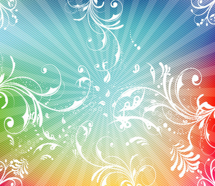 swirly lined colorful vector
