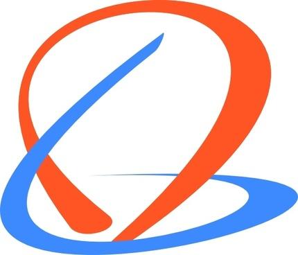 Swirly Logo clip art