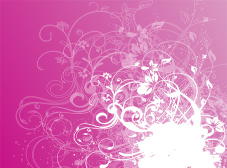 swirly red pink free vector design