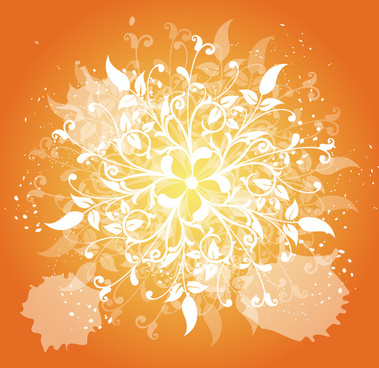 swirly with orange background