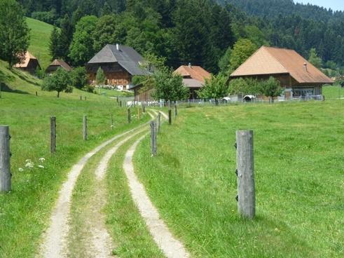 switzerland buildings landscape
