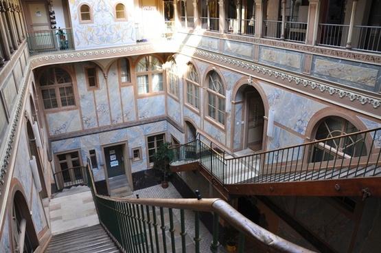 switzerland buildings stairway