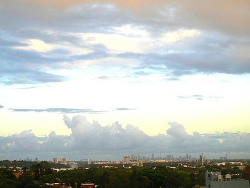 sydney skyline later
