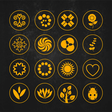 symbol design element set